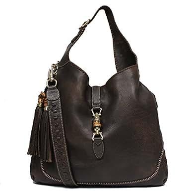 Amazon.com: Gucci New Jackie Large Leather Hobo Shoulder ...