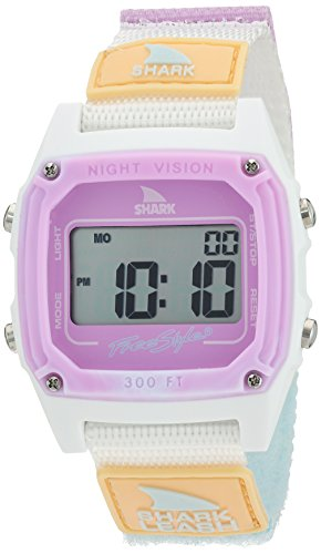 Freestyle 'Shark' Quartz Plastic and Nylon Sport Watch, Color:White (Model: 10026835) (Womens Shark Clip Watch compare prices)