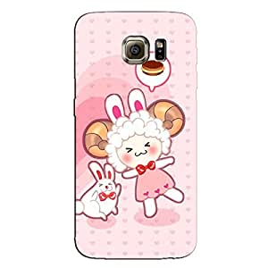BUNNY & GIRL BACK COVER FOR SAMSUNG GALAXY S6 EDGE