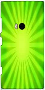 Snoogg Green Rays Background Designer Protective Back Case Cover For Nokia Lu...