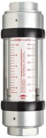 Hedland High Temperature Flowmeter, Aluminum, For Use With Oil and Petroleum Fluids, NPT Female