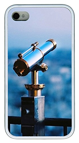 Iphone 4 4S Case Astronomical Telescope Tpu Custom Iphone 4 4S Case Cover White