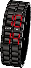 APUS Zeta Black Red AS-ZT-BR LED Watch for Men Design Highlight