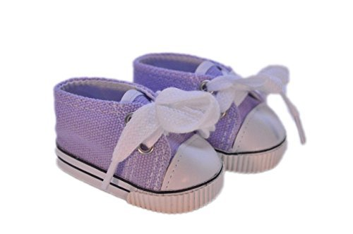 LAVENDAR CANVAS SNEAKERS FOR AMERICAN GIRL DOLLS