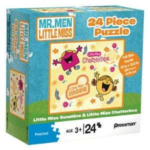 Mr. Men Little Miss Sunshine 24 Piece Puzzle - Little Miss Chatterbox & Little Miss Sunshine by Mr. Men and Little Miss