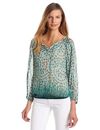 Lucky Brand Women's Cheremoya Spiral Jetty Top, Parasaling Multi, X-Small