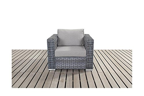 Manhattan grau Garten Möbel Single Rattan Sessel bestellen