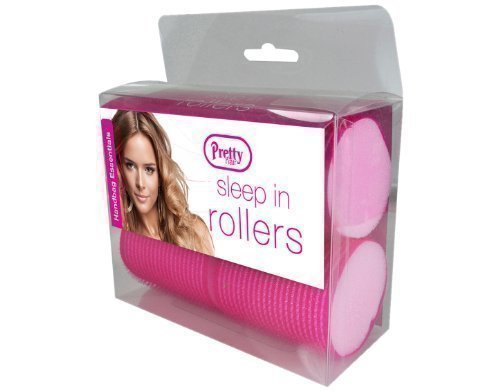 4 x Pretty Hair Sleep In Rollers (Pink - Large) by Pretty