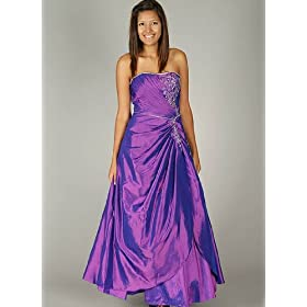 Strapless Floral Sequin Formal for Bridesmaid Formal Prom