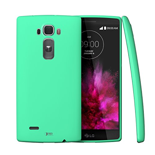 LG G Flex 2Case, Redshield [TPU Series][Fresh Mint] Matte Finish Glossy Side Accent [Extra Slim] Crystal Silicone Skin Cover with **BONUS** HD Scre