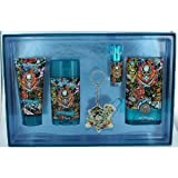 Ed Hardy Hearts and Daggers by Christian Audigier, 5 Piece Gift Set for Men with Key Chain by CHRISTIAN AUDIGIER