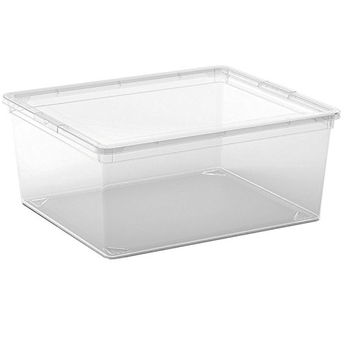 Kis 8403000 0202 02 C Box-Scatola portaoggetti in plastica trasparente, 11 L