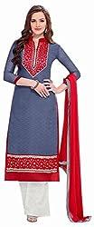Begum Riwaaz Women's Georgette Unstitched Dress Material (46, Purple)