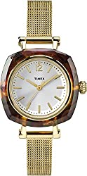 Timex Women's TW2P69900AB City Collection Analog Display Quartz Gold Watch