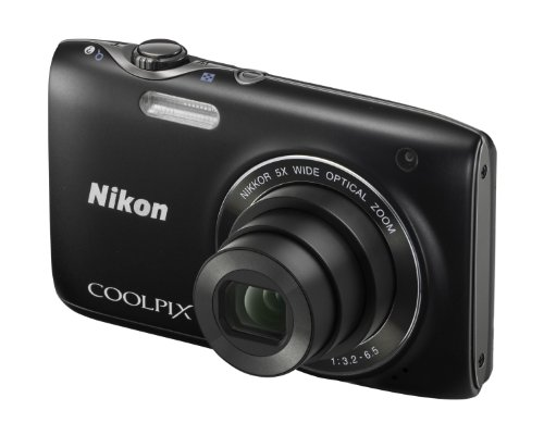 Nikon Coolpix S3100 Digital Camera - Black (14MP,