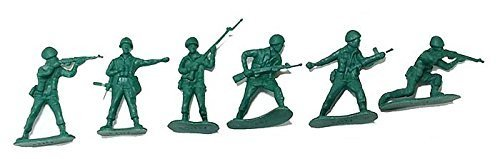100 Piece Plastic Green Army Men 2 inch Military Soldiers by Military Force [並行輸入品]