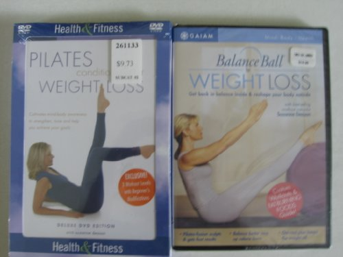 Pilates Conditioning Deluxe Weight Loss & Balance Ball for Weight Loss (DVD Set)