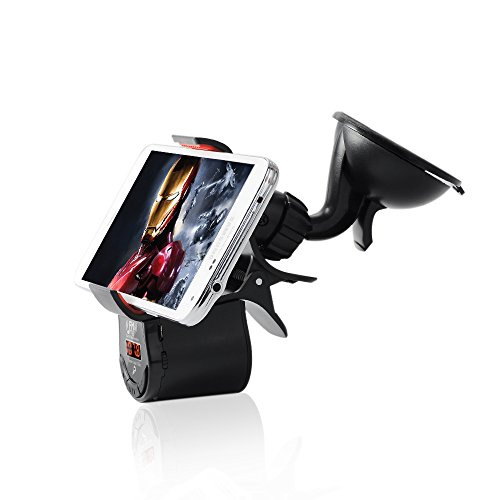 Victsing Stereo Wireless Fm Radio Transmitter Car Mount Holder Support Handsfree Calling For Iphone 5S 5C 5 4S 4 Ipod Ipad Mp3/4 Music Player Samsung Galaxy S5 S4 S3 Note 3 2 front-1053904