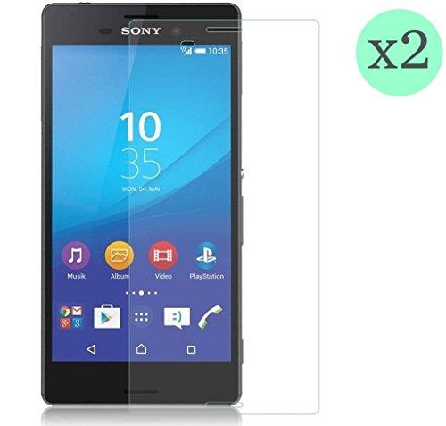 (2 pezzi) Pellicola Protettiva in Vetro Temperato per Sony Xperia M4 Aqua l Ultra HD Trasparenza, Ultraresistente, Resistenza Agli Urti, Resistere Impronte Digitali, 100% Senza Bolle, Resistenza Agli Oggetti Appuntiti, Spessore di 0.33 mm