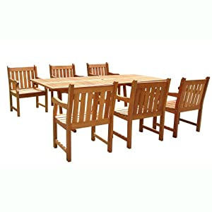Amazon.com: VIFAH V232SET1 English Garden 7-Piece Dining Set with ...