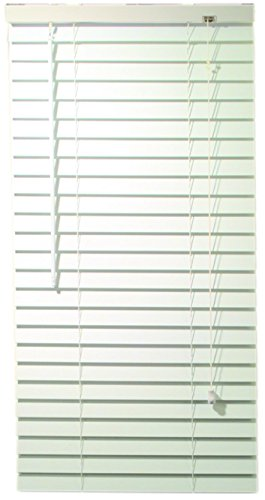 Designer's Touch 2464689 2-Inch Faux Wood Blind Crown Valance, 34 x 60 x 2-Inch, White (Faux Wood Blinds 1 Inch compare prices)