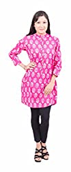 Krivi By Kk Women's Cotton Kurti (KRV-02-A_Pink_S)