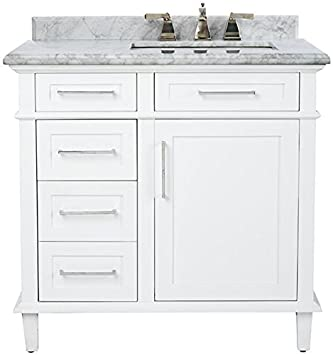 "Sonoma Single Vanity, 34.5""Hx36""Wx22""D, WHITE"