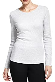 Pure Cotton Crew Neck Top with Stay New [T41-4903-S]