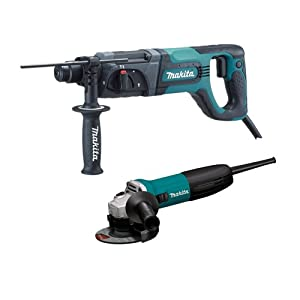 Makita HR2475X2 1-Inch Rotary Hammer SDS-Plus, Includes Free GA4530 4-1/2-Inch Grinder from Makita