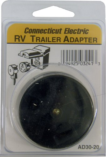Connecticut Electric CESMAD3020 RV Outlet Adapter, 30-Amps/120-Volt to 20-Amps/120-Volt