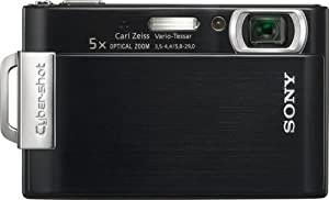 Sony Cybershot DSC-T200 8.1MP Digital Camera with 5x Optical Zoom with Super Steady Shot Image Stabilization (Black)