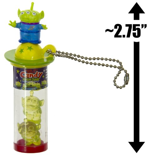 "Squeeze Toy Aliens & Candy (~2.75""): Toy Story / Pixar ""Pop Snack"" Mascot Mini-Figure Charm - NOT EDIBLE [#4] (Japanese Import)"
