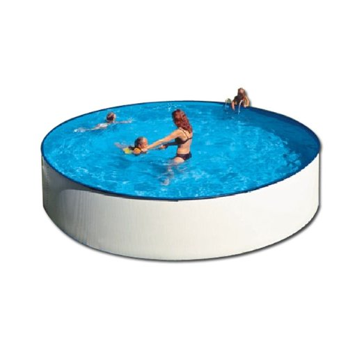 Swimming Pool über dem Boden Stahl rund 350 cm kaufen