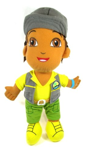 "Go Diego Go - 12.5"" Diego the Explorer Plush Wearing Gray Cap - 1"