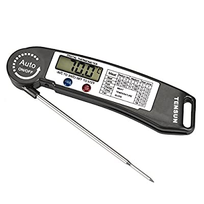 Tensun Cooking Barbecue Meat Thermometer Ultra Fast Instant Read Digital Electronic BBQ Thermometer With Collapsible Internal Probe ¡­