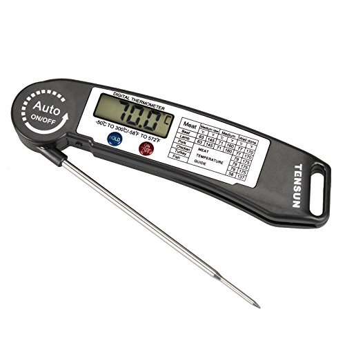 Tensun Cooking Barbecue Meat Thermometer Ultra Fast Instant Read Digital Electronic BBQ Thermometer With Collapsible Internal Probe (2 Compartment Deep Fryer compare prices)