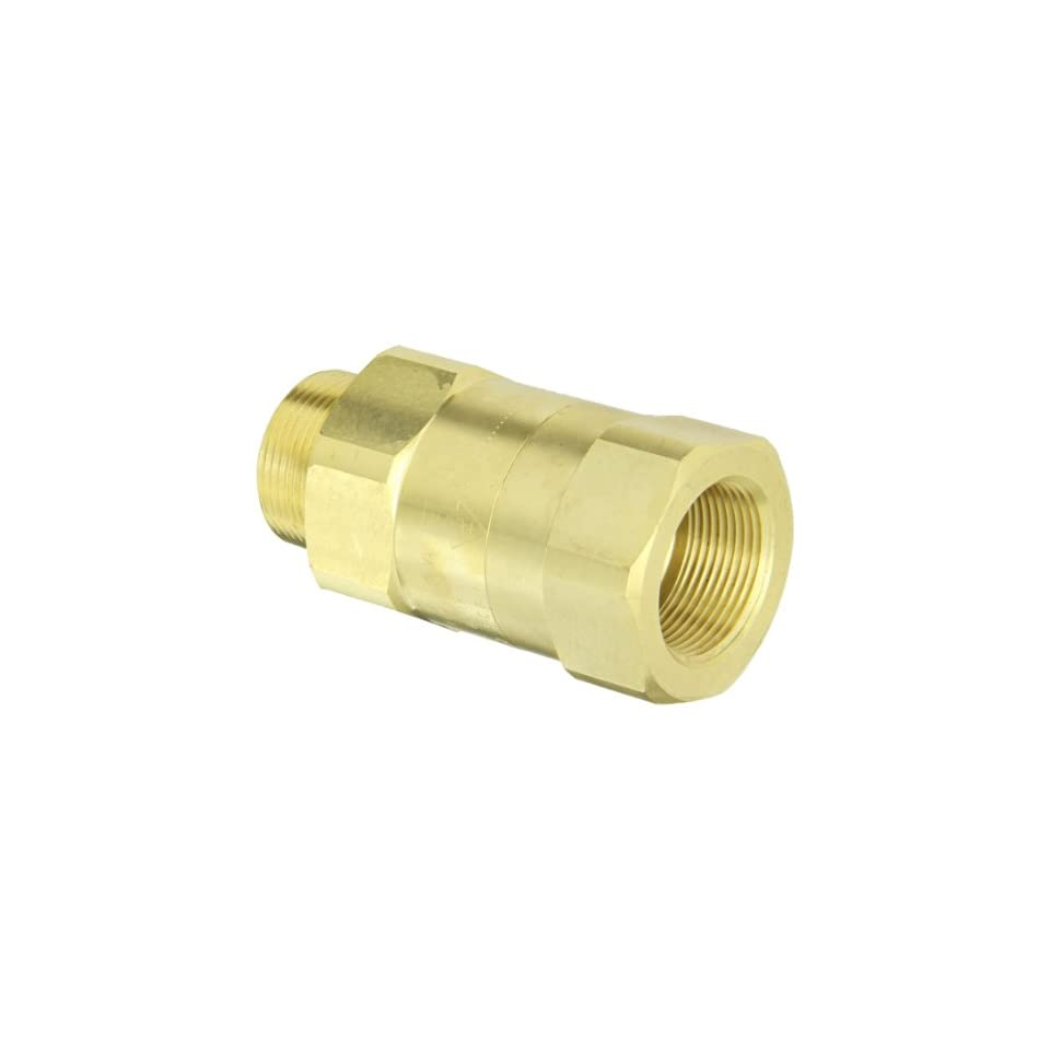 Dixon Valve SCVM10 Brass Safety Check Valve, 1 1/4 NPT Male x 1 1/4 Hose ID Barbed, 300 340 SCFM Flow