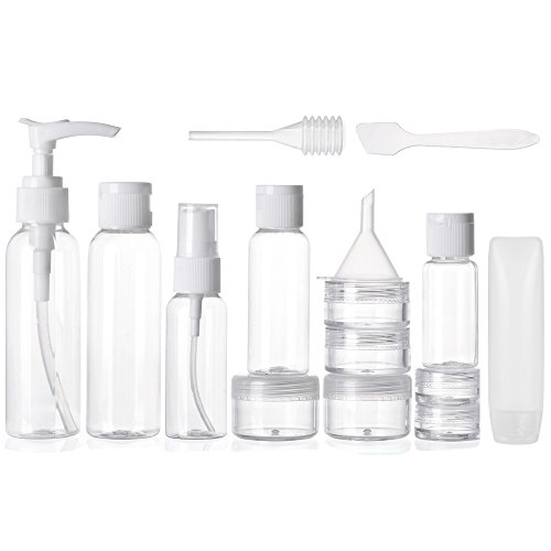 Alink 16 Piece Travel Bottle Set - Clear (Glass Travel Bottle compare prices)