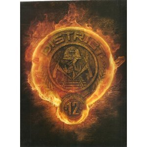The Hunger Games Burning District 12 Logo Spiral Notebook