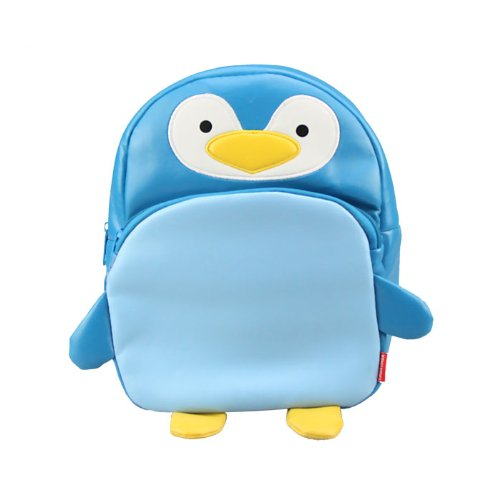 Linda Linda Blue Penguin Kids Bag, Little Kid Backpack, Children School Bag and Travel Bag