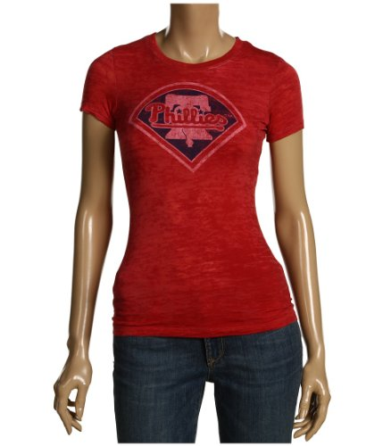 Philadelphia Phillies Ladies Retro Fashion Burn Out T-Shirt by Red Jacket at Amazon.com