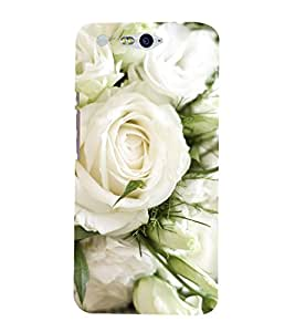 Vizagbeats White Roses Back Case Cover for Infocus M812