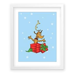 Max snow g4f framed dr seuss for Christmas wall art amazon