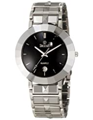 Swistar Men's 44201-M Swiss Quartz Scratch Resistant Tungsten and Stainless Steel Dress Watch