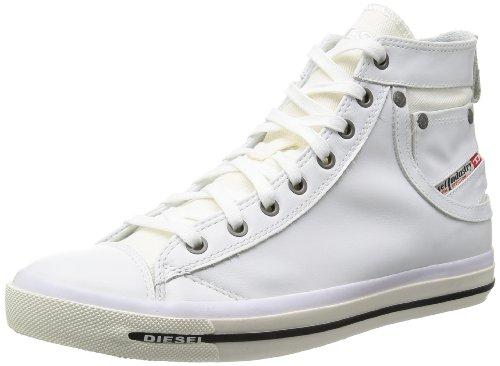 "Diesel ""MAGNETE"" EXPOSURE I - sneaker, Sneaker uomo Multicolore multicolore, Bianco (Weiß (T1003)), 44 EU (9.5 Herren UK)"