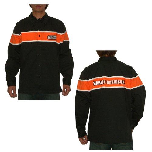Harley Davidson Motorcycles Mens Button Down Long Sleeve Racing Shirt XXX-Large Black