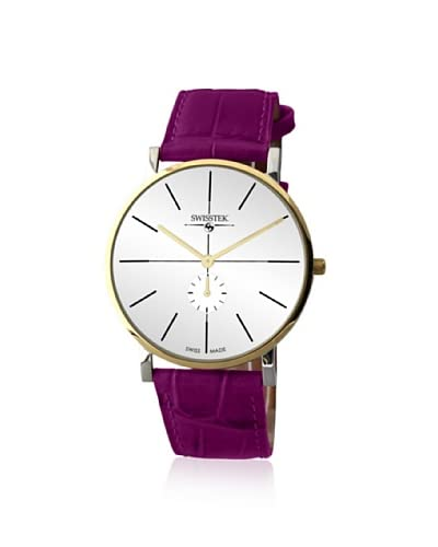 Swisstek Women's SK21321-VP Retro Aces Violet/White Stainless Steel Watch