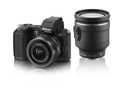 Nikon デジタル一眼カメラ Nikon 1 (ニコンワン) V2 ハイパーダブルズームキット ブラック N1V2HWZBK