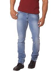 RACE-Q Light Blue Washed Jeans for Men