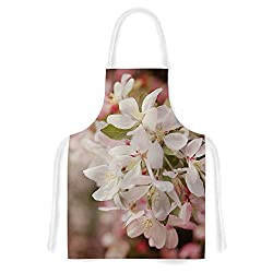 KESS InHouse Angie Turner Apple Blossoms Pink Flower Artistic Apron, 31 by 35.75 , Multicolor